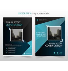 blue black abstract annual report brochure vector image vector image