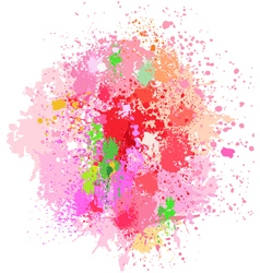 Color background of paint splashes on white vector image vector image