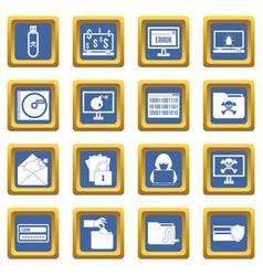 criminal activity icons set blue vector image