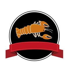 delicious lobster sea food vector image