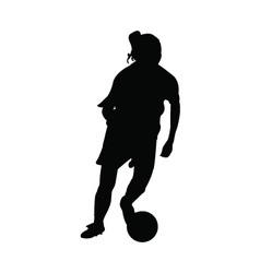Girl soccer player vector image