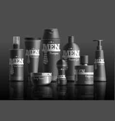 mens cosmetic series realistic composition vector image