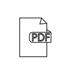 pdf format document icon vector image