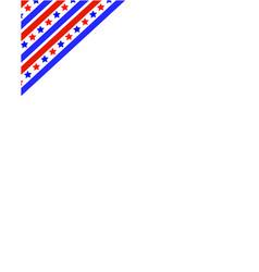 American flag ribbon in the corner frame vector
