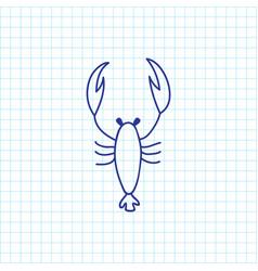 of zoo symbol on scorpion vector image
