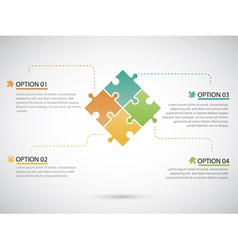 Puzzle piece infographics business vector image vector image