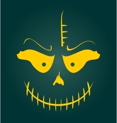 Skull with Evil Laugh vector image vector image