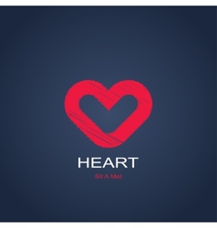 symbol of heart vector image