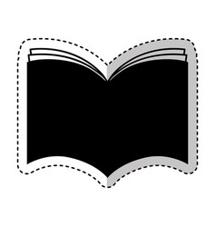 text book silhouette isolated icon vector image vector image