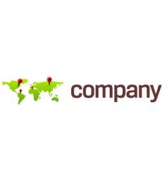 world map travel logo vector image vector image