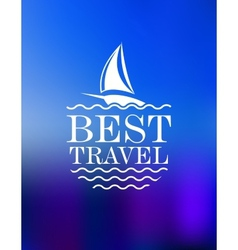 Yachting symbol with travel header vector image vector image