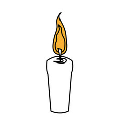 color silhouette with decorative candle spa vector image