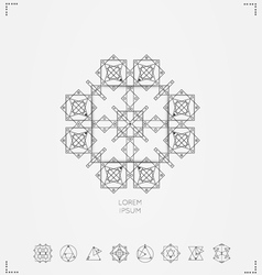 geometric hipster shapes vector image