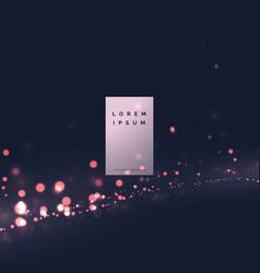 Modern bokeh light effect background design vector