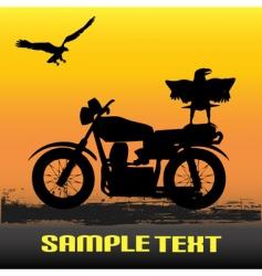 motorcycle dawn vector image vector image