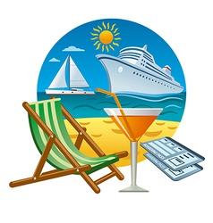 sea travel concept vector image vector image