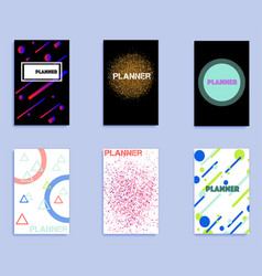 set of covers with geometric shapes vector image
