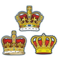three british crown vector image vector image