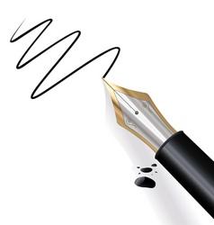 writing fountain pen vector image vector image