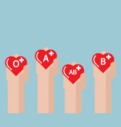 blood donate donation concept with heart shape in vector image vector image