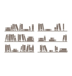 Books on the shelf vector image