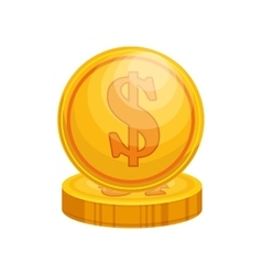 coin money isolated icon vector image