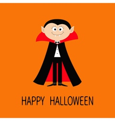 Count Dracula wearing black and red cape Cute vector image