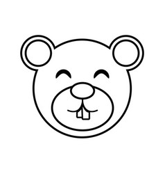 face bear animal outline vector image