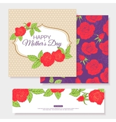 Happy Mothers Day Typographical Background With vector image vector image