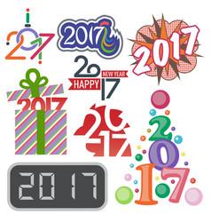 happy new year 2017 text design creative vector image vector image