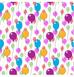 seamless pattern of different colorfull cute vector image vector image