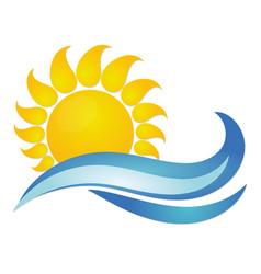 sun and sea vector image