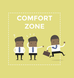 African businessman exit from comfort zone vector