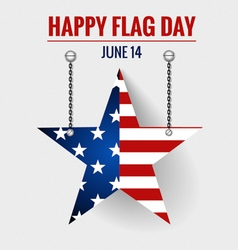 American Flag Day 14 of June Flag Day vector