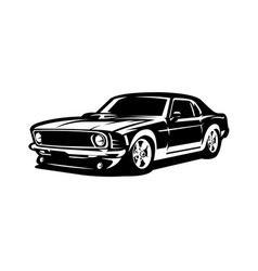 american muscle car image side view isolated vector image