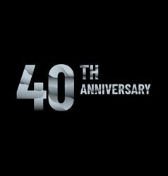 Anniversary 40th paper cut vector