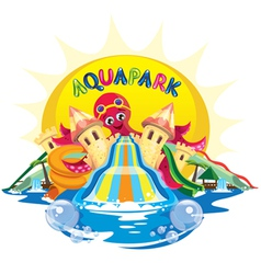 aquapark octopus vector image