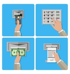 ATM terminal usage concept vector image