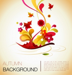 autumn abstract vector image