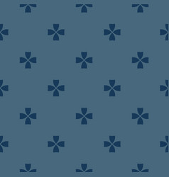 blue minimalist geometric floral pattern abstract vector image