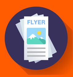 brochure or flyer icon flat style vector image