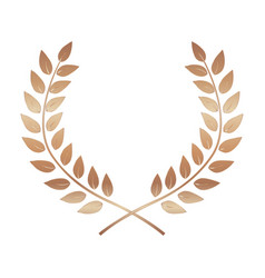 Bronze award laurel wreath winner leaf label vector