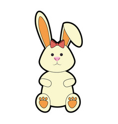 Bunny ribbon animal vector