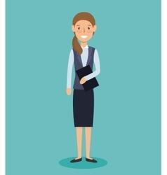 Businesswoman avatar elegant icon vector