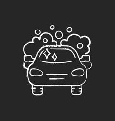 Car washing chalk white icon on black background vector