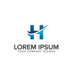 Cative modern letter h logo design concept vector