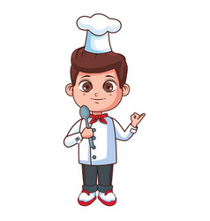 Chef boy cartoon vector