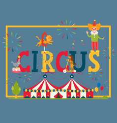circus typography poster vector image