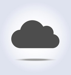 cloud flat gray icon symbol vector image