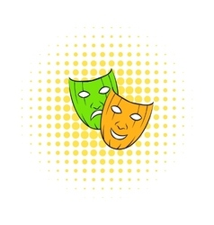 Comedy tragic and comics masks icon vector image